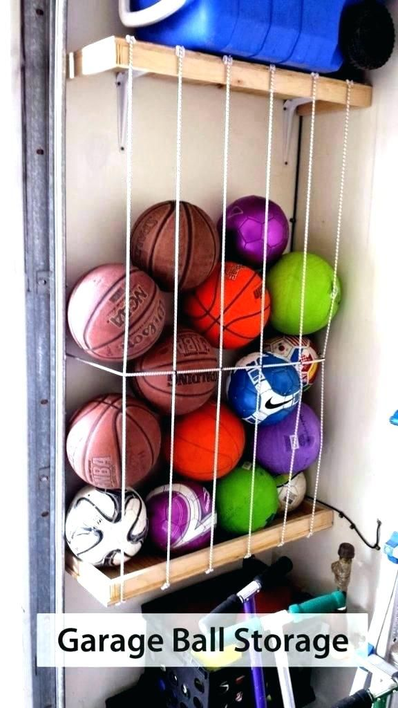 Bon Garage Ball Storage Sports Ball Storage Bin Garage Sports Organizer Garage Ball  Storage Home Decoration Garage