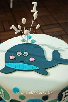 Wal Torte Zum 1 Geburtstag Motivtorten Kindergeburtstag Geburtstag Torte Junge Torte Kindergeburtstag Junge