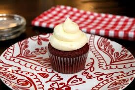 Red velvet cupcake with cream cheese icing :-)