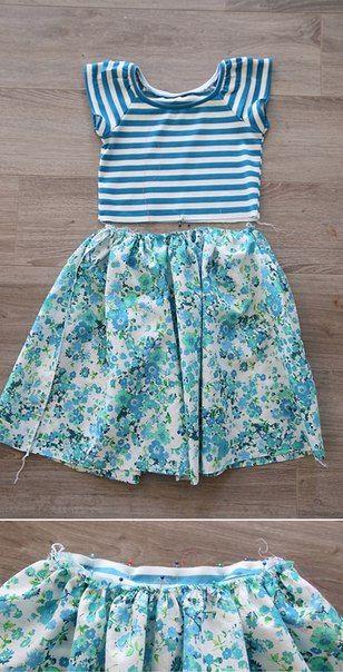 ed8236f18 Como hacer un vestido facil para niña paso a paso | TRAJES ...