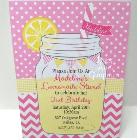 mason jar lemonade invitation lemonade invitation by dotsandgingham on etsy 1400