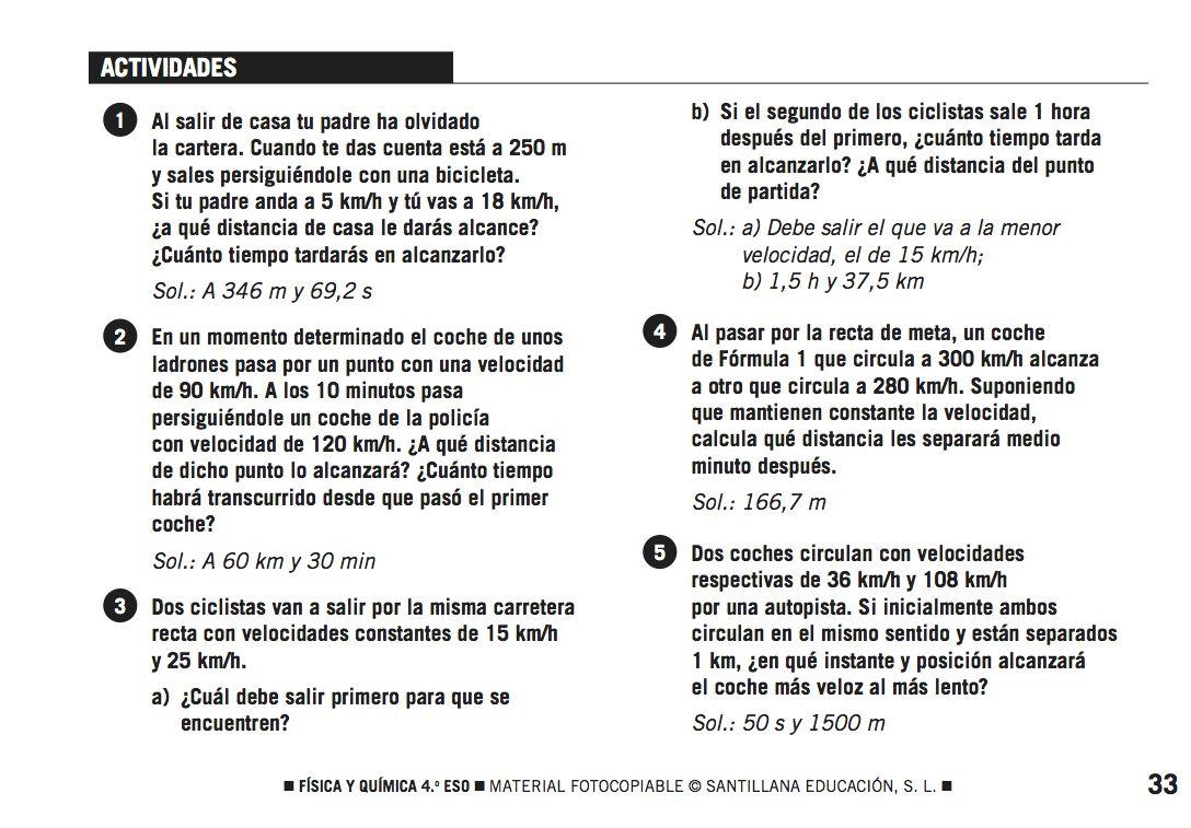 Ejercicios de Física. Tema: MRU, movimiento rectilíneo Uniforme, con ...