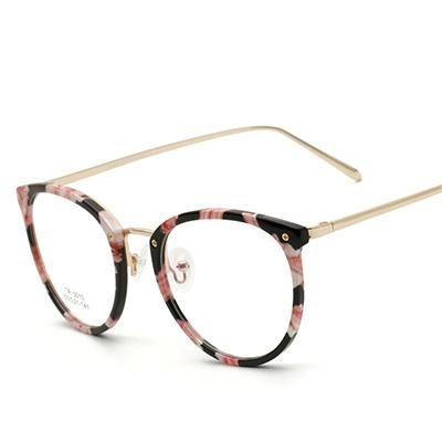 f5b93f1f1 TR90 Women's Floral Round vintage Glasses Women Optical Frame Eyeglass –  novahe