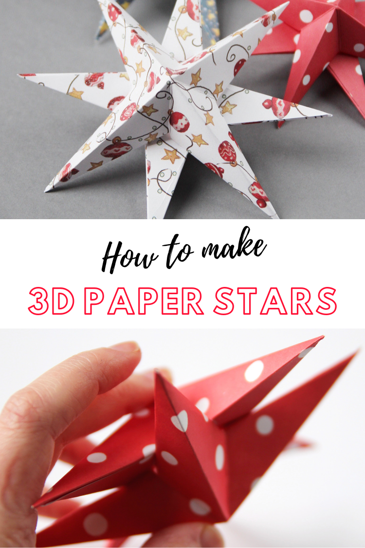 How to's : Learn how to make diy 3D paper star christmas decorations #diy #papercrafts #craft #christmas #holidays #christmasdecorations #holidaydecorations #gatheringbeauty