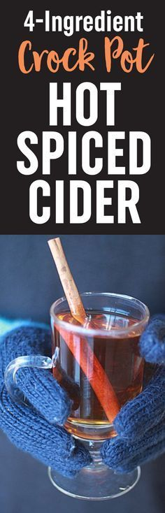 Slow Cooker Hot Spiced (Mulled) Apple Cider #spikedapplecider