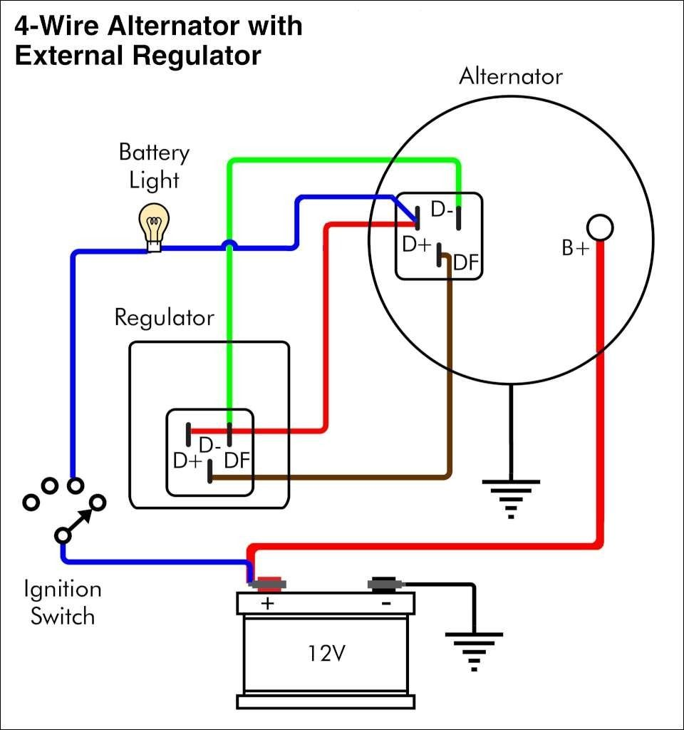 12 Volt Delco Alternator Wiring Diagram | WiringDiagram.org ...  Wire Voltage Regulator Diagram on