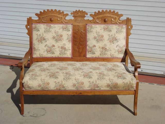 American Antique Victorian Settee Sofa Bench Eastlake Antique Furniture - American Antique Victorian Settee Sofa Bench Eastlake Antique