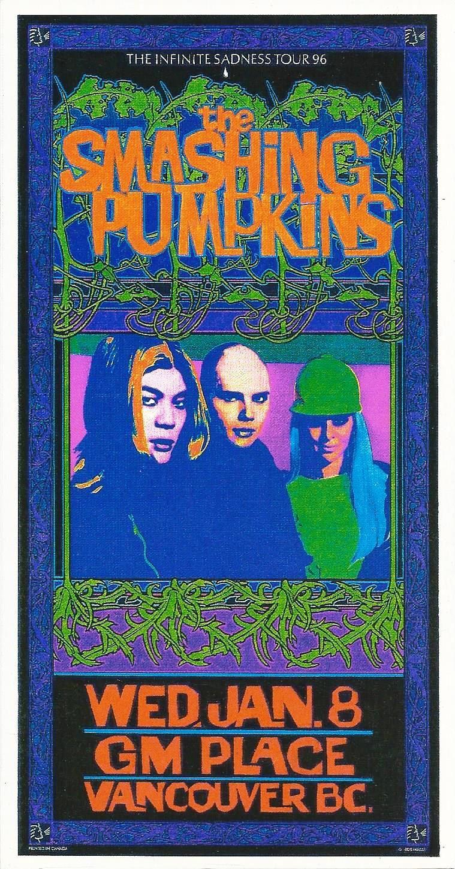 1996 Vintage Concert Poster Infinite Sadness The Smashing Pumpkins
