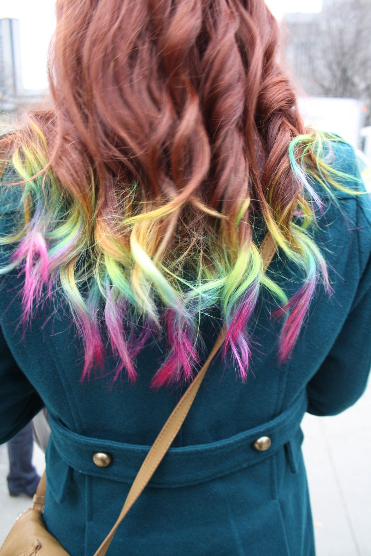Image result for Bright Dip-Dyed Ends hair