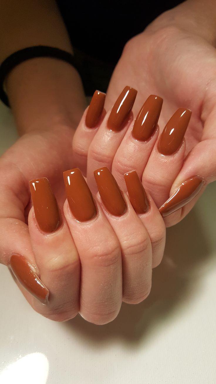 Opi Nagelfarbe A Piers zu sein Tan Sarg Nägel Nagelformen Herbst Nägel Herbst Nagel ... #nailsshape