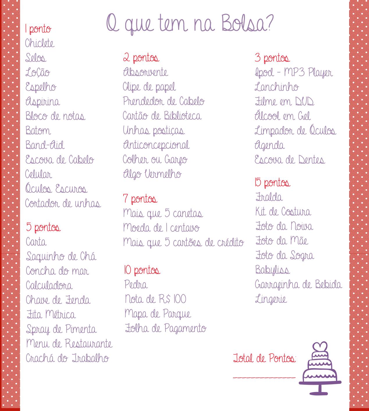 Freebie Brincadeiras De Ch De Panela Ch Bar Pinterest