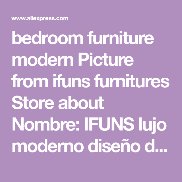 bedroom furniture modern Picture from ifuns furnitures Store about ...