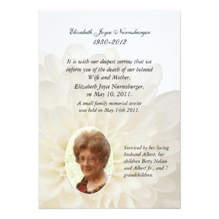death announcement cards - Ozilalmanoof