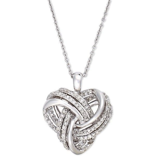 Wrapped in love diamond heart pendant necklace in sterling silver wrapped in love diamond heart pendant necklace in sterling silver 14 mozeypictures Images