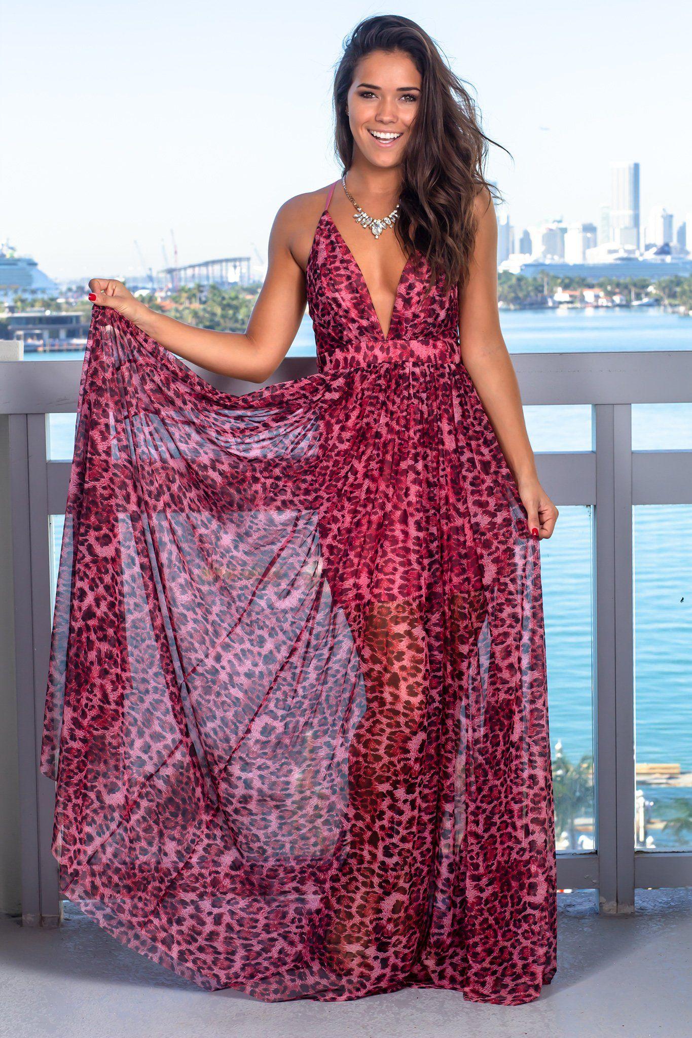 Fuchsia Leopard Print Maxi Dress Leopard Print Maxi Dress Pink Leopard Print Dress Maxi Dress [ 2047 x 1365 Pixel ]
