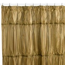 Antique Gold Shower Curtain Create A Shimmering Opulent Look In