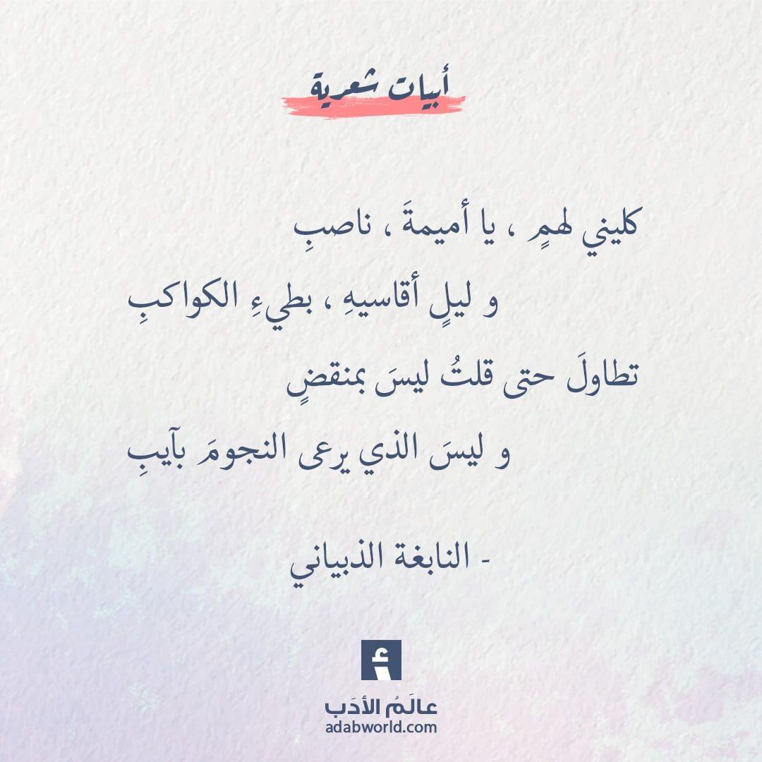 من اجمل ما قال النابغة الذبياني في الشعر عالم الأدب Words Quotes Spirit Quotes Quotes For Book Lovers