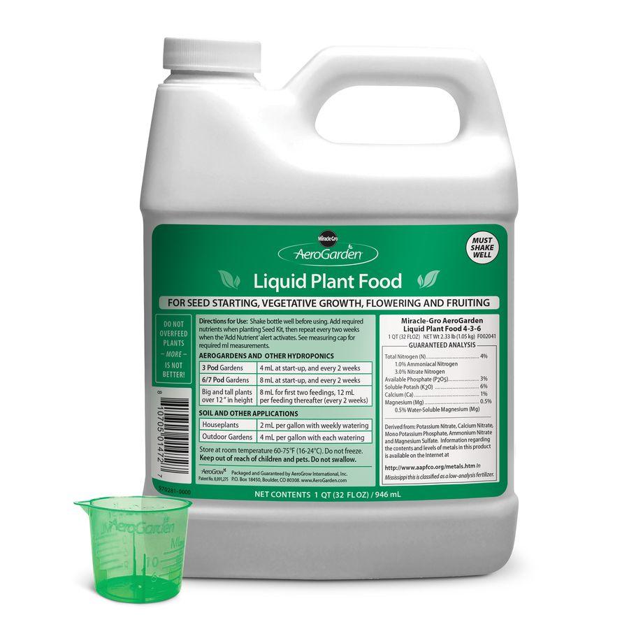 Aerogarden 1 Quart Liquid Plant Food 970281 0000 In 2020 400 x 300