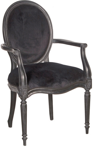 Black Velvet French Bedroom Chair Ebony From Out There