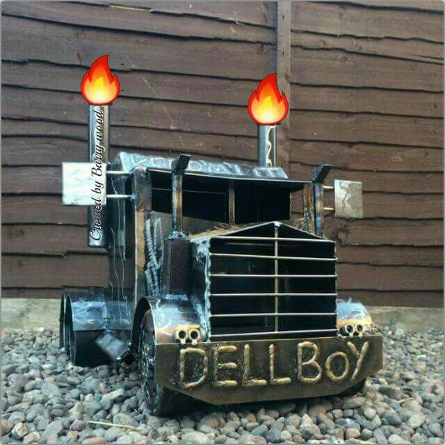 Big Rig Truck Bbq Stove Wood Burner From The Original Scottish Creator Of The Truck Lorry Garden Burners Barry Metal Fire Pit Wood Burner Fire Pit Designs