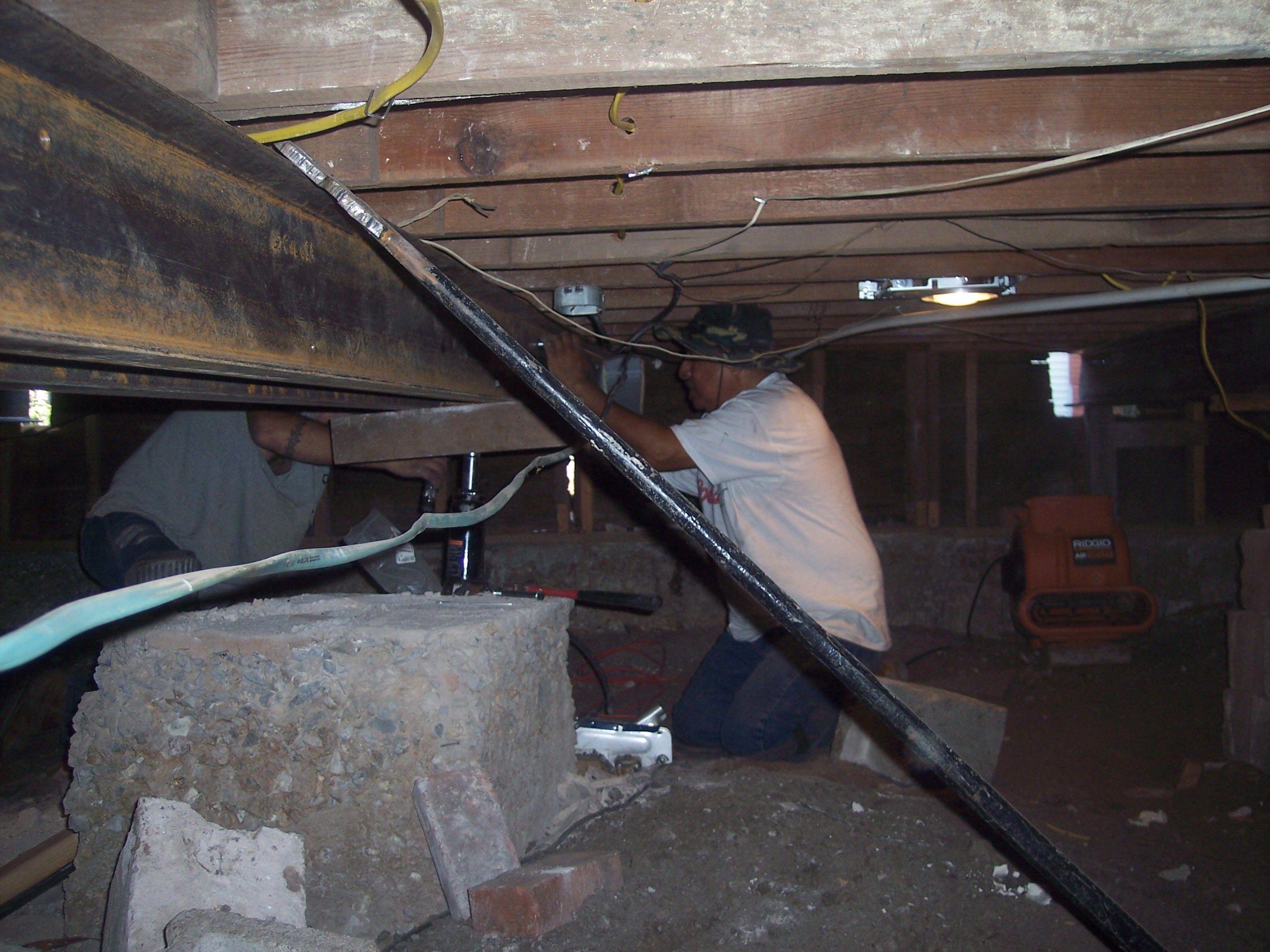 The Basement Kings – Steel C- Channel installation encased