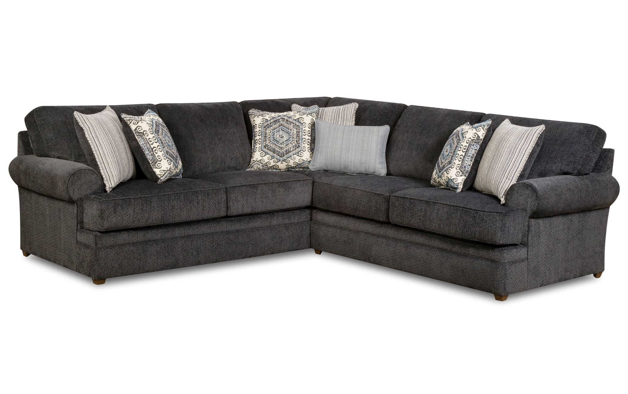 Bellamy Slate 2 Piece Sectional Beauty Rest By Simmons 899 00