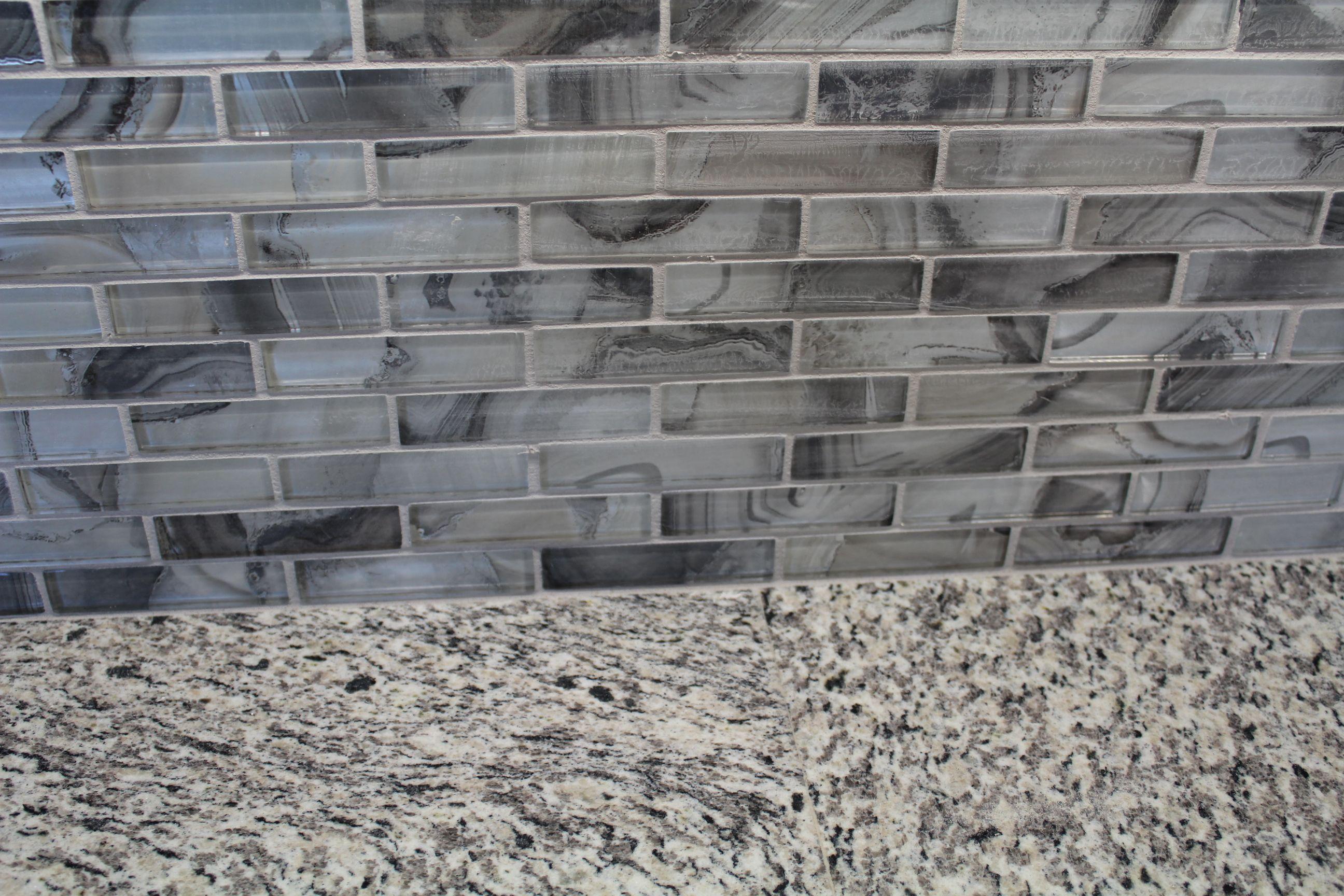 Granite Color Cameo Backsplash Accent Tile Gypsea Triton 1x4 Blues And Grays For A Kitchen