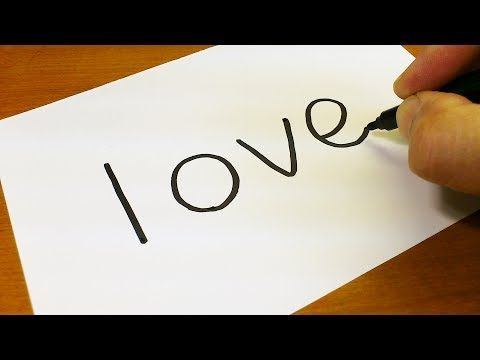 Very Easy How To Turn Words Love Into A Cartoon For Kids Drawing Doodle Art On Paper Youtube Drawing For Kids Simple Doodles Word Drawings