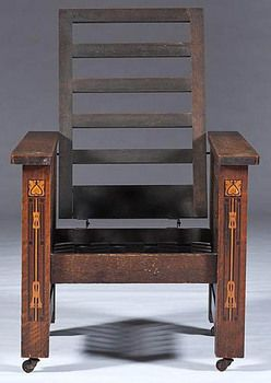 Charmant Shop Of The Crafters Cincinnati | Arts U0026 Crafts Morris Chair In Oak,  Attributed To Shop Of The Crafters .