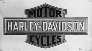Harley Davidson Bar And Shield >> First Version Of The Harley Davidson Bar And Shield Logo