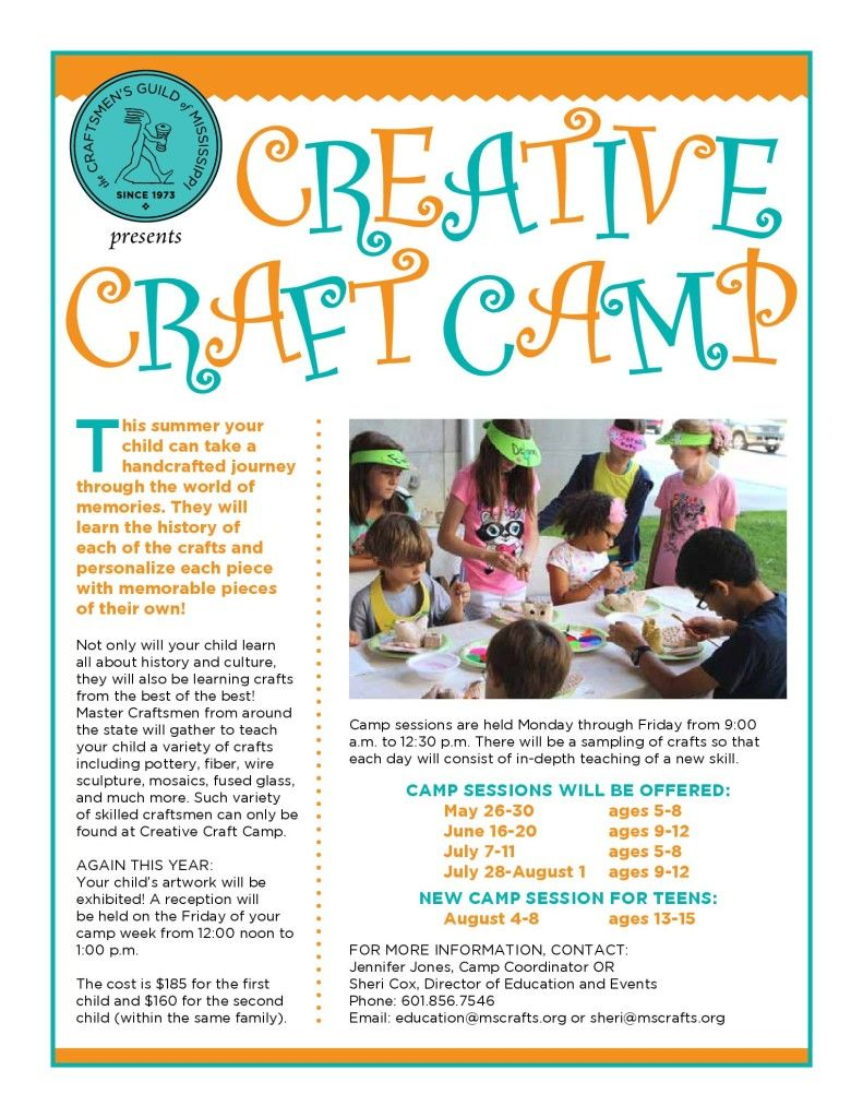 craft flyer craft creative camp flyer flyers craft flyer craft creative camp flyer