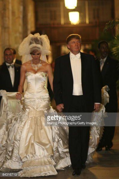 Donald Trump Sr And Melania Wedding Self Ignment January 22 2005