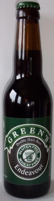 Cerveja Green's Endeavour, estilo Belgian Dubbel, produzida por Green's, Inglaterra. 7% ABV de álcool.