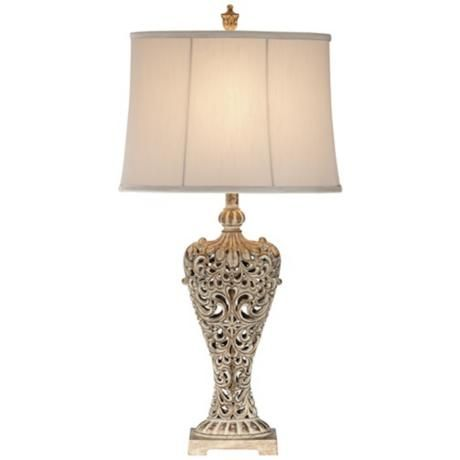 Elle Carved Antique Bronze Classic Table Lamp 3j928 Lamps Plus In 2020 Classic Table Lamp Lamp Traditional Table Lamps