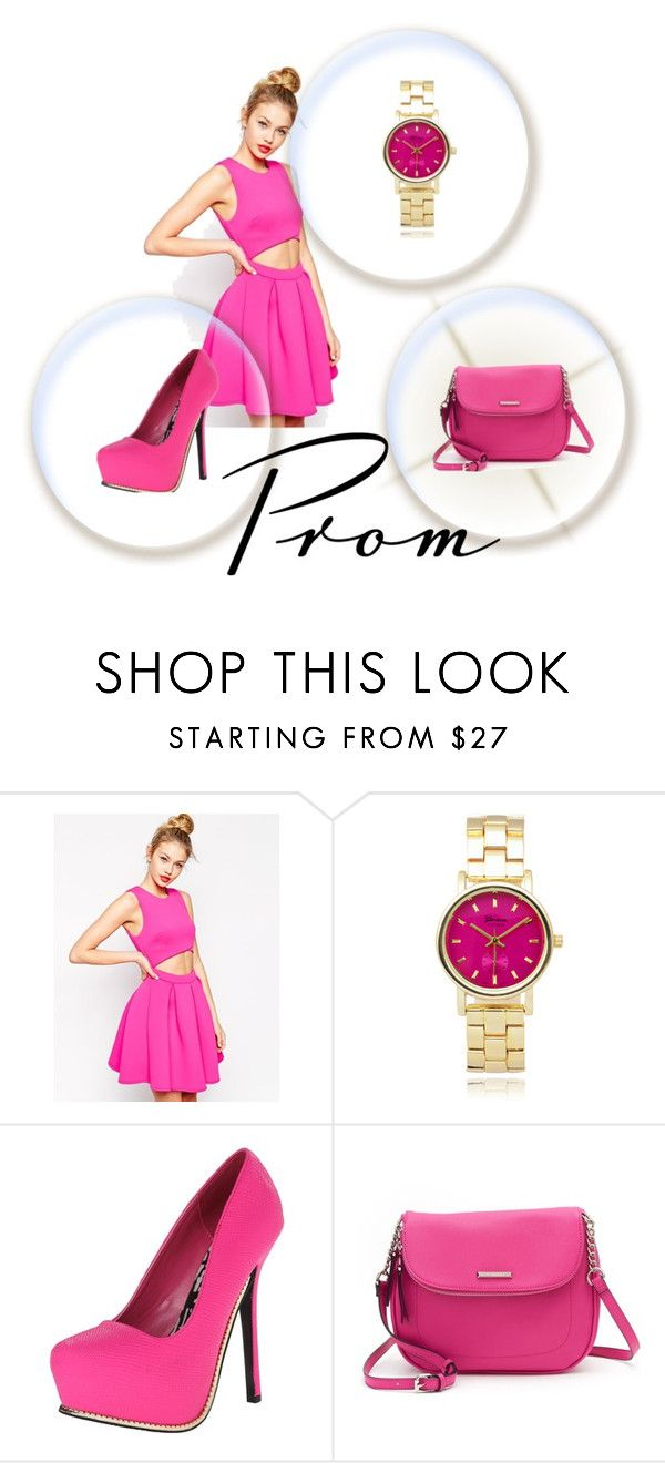 """""""rosa oscuro"""" by nan04-11 ❤ liked on Polyvore featuring ASOS, Geneva, Qupid and Dana Buchman"""