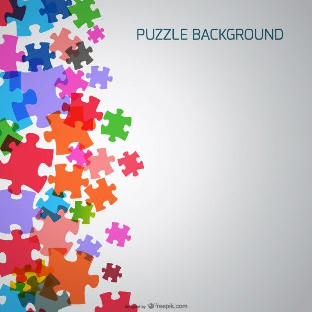 Puzzle Pieces Background Vector Free Free Vector Graphics Free Puzzles