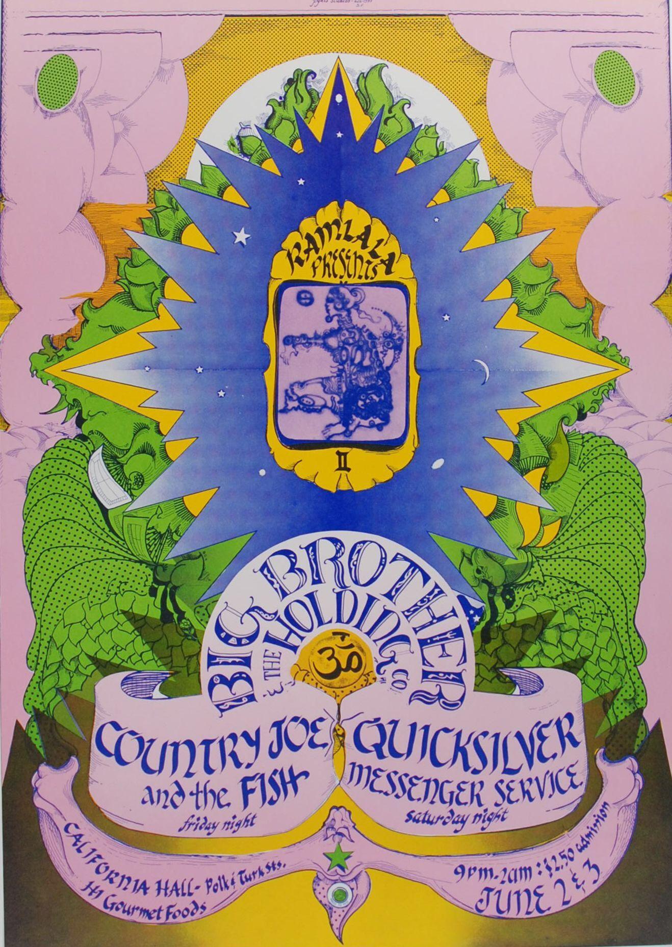 Big Brother / Quicksilver / Country Joe show at California Hall 1967.