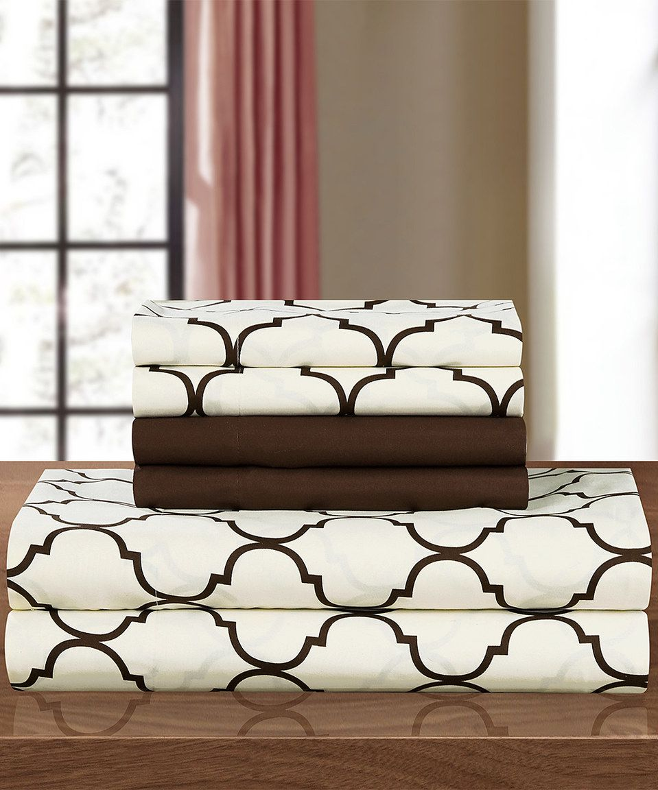 Brown Chic Home Kendall Sheet Set By Chic Home DesignLook At This  Zulilyfind Brown Chic Home