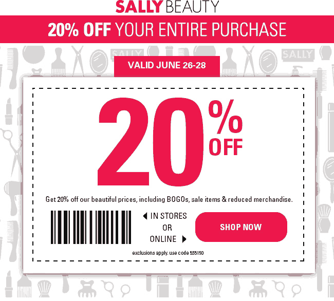 20 Off At Sally Beauty Or Online Via Promo Code 555150 Sally