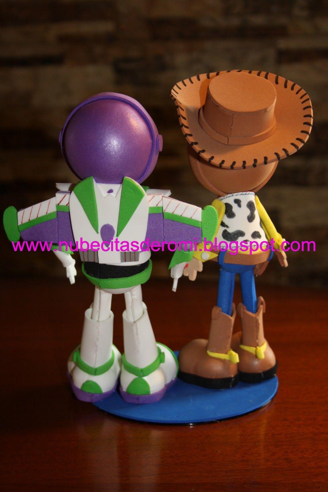 Nubecitas De Romi Buzz Y Woody Fofuchos 3d Habitación De Toy Story Artesanía De Toy Story Manualidades