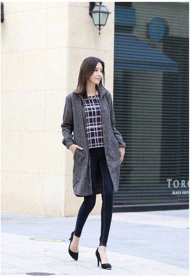 232 Pending Denim Skinny   Korean Fashion