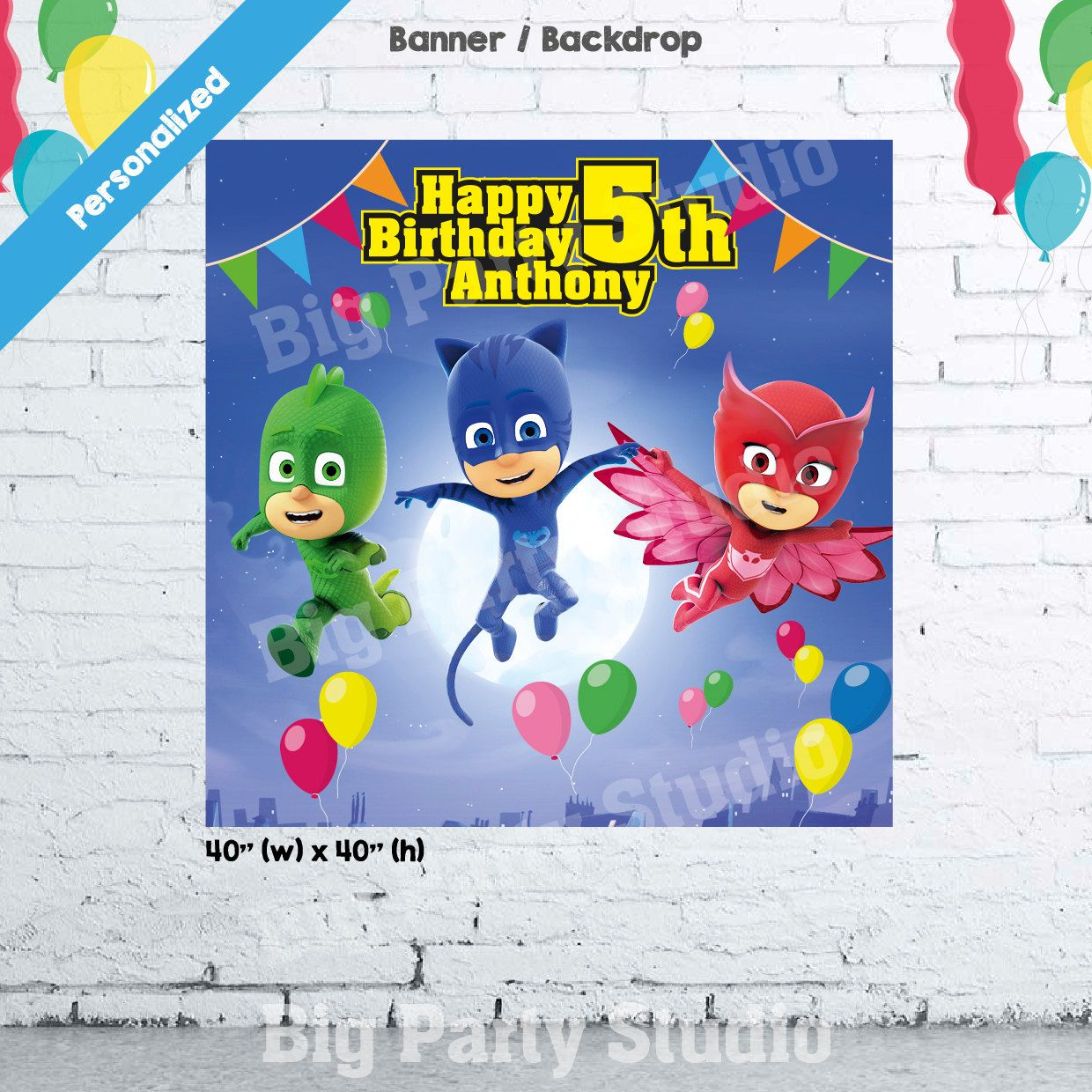 pin on party backdrops and banner
