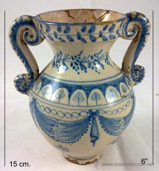 Rare Antique Vase Ruiz De La Reina Talavera De Luna Antiques