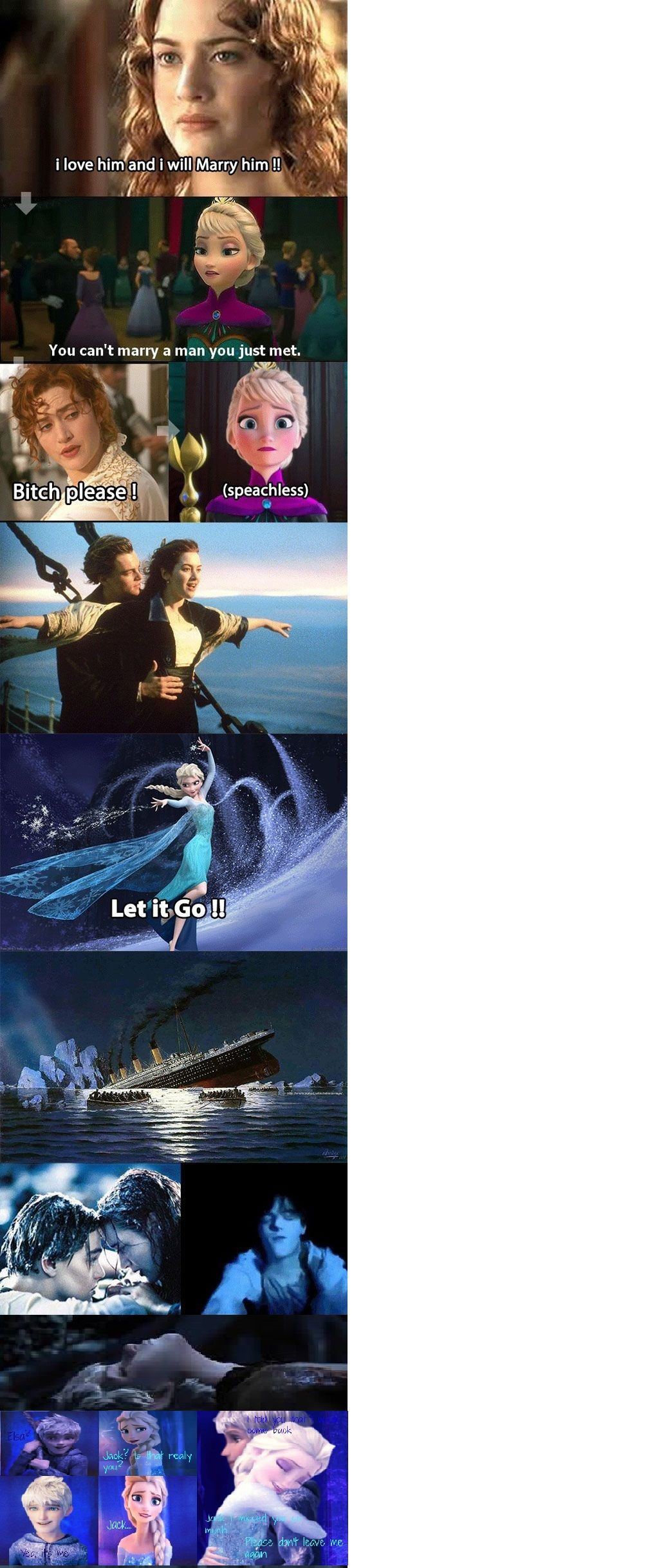 Proof That Elsa Is Crazy Jelsa Titanic Funny Pictures Hilarious Titanic