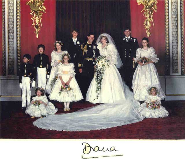 Princess Diana Wedding Party Pictures Google Search