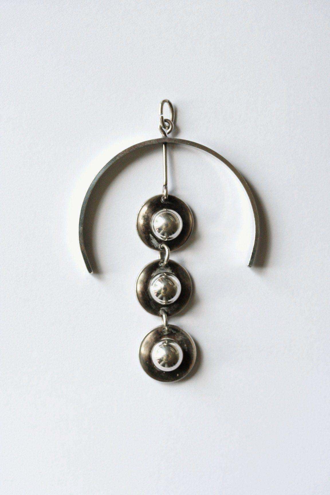 Sterling Silver 1960s pendant by Aksel Holmsen of Norway www.lovethatjewellery.co.uk