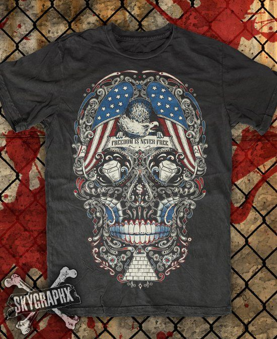 Nice one from #skygraphx. #sugarskull American theme.