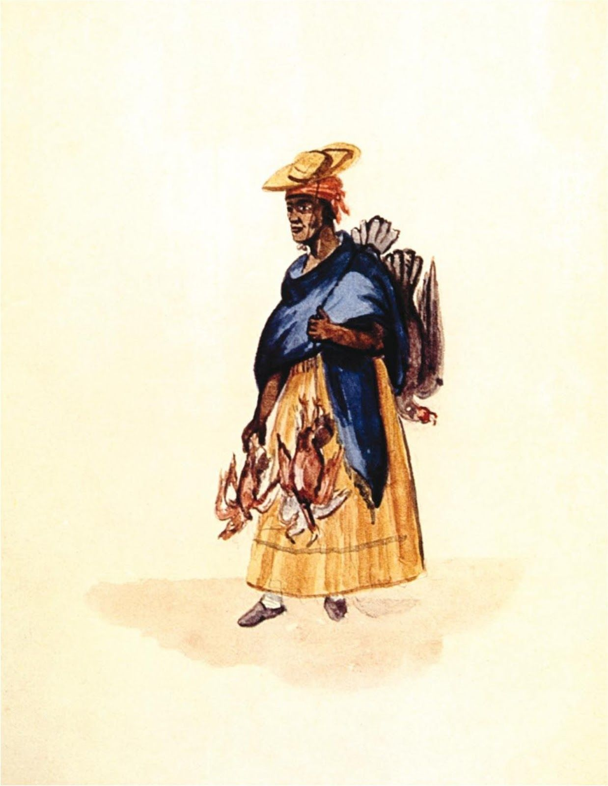 francisco fierro   Pancho Fierro, Vendedora de aves, en Manuel Cisneros  Sánchez, Pancho   Art, Pancho, San martin de porres