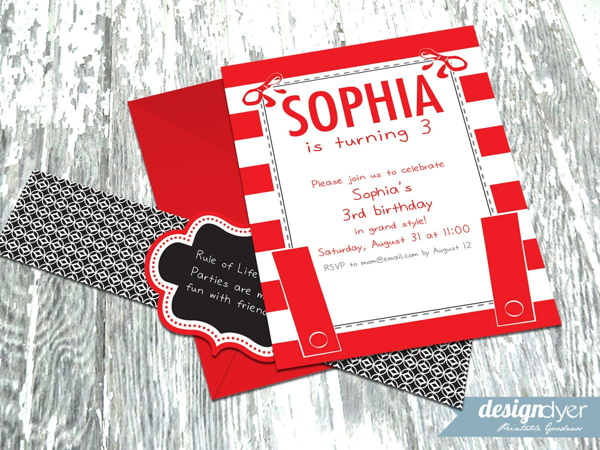 Personalized Olivia the Pig Inspired Printable Invitation Pack ...