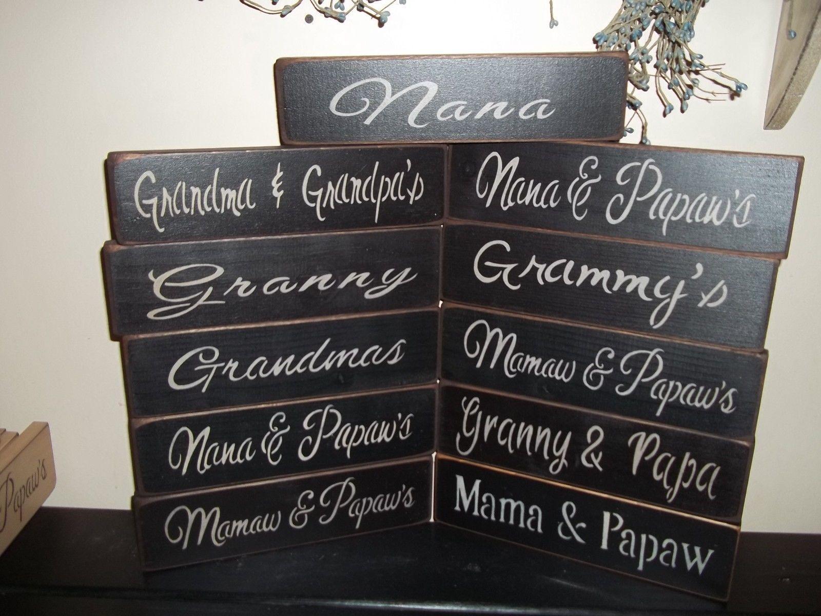 Wood Signs Grandparents u0026 Nana Papawu0027s Grandmau0027s